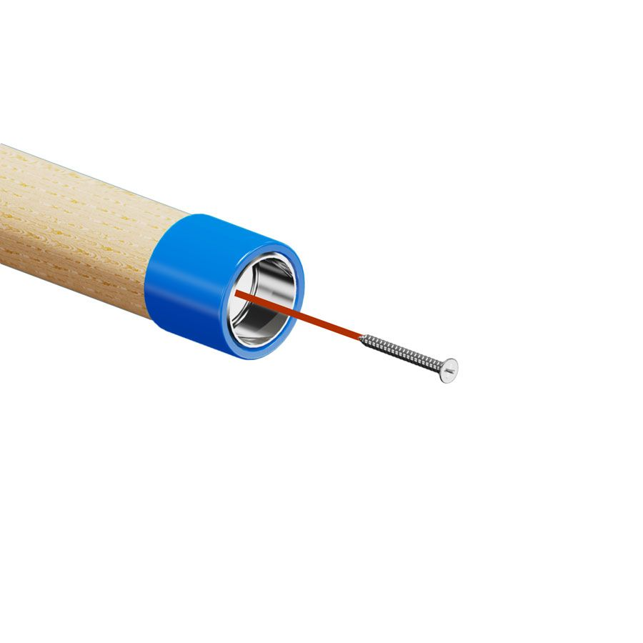 Adaptateur inox pour accessoires de main courante bois