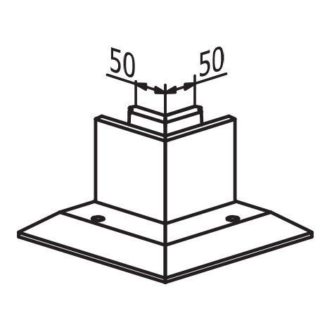 ANGLE 90° INTERIEUR POUR TL-3030