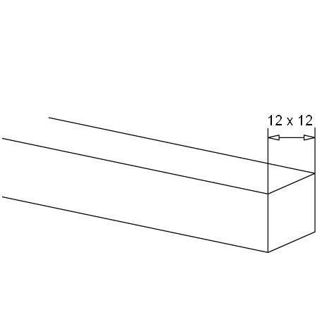 BARRE CARRE 12 x 12 mm - INOX 304 GR320