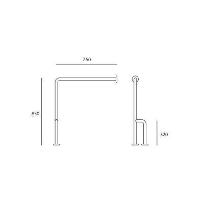 Barre de soutien - appui mur & sol