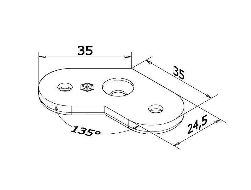Berceau 45° pour profil plat
