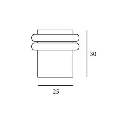 Butée de porte au sol Ø25 mm