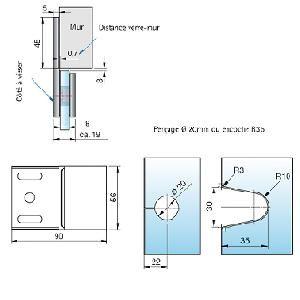 Connecteur d\'angle verre/mur 180°