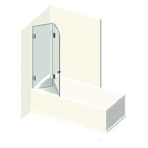 Kit 2 portes de baignoire pliantes