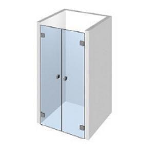 Kit 2 portes de douche pivotantes
