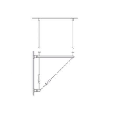 Kit câble Ø1,5 mm fixation mur/plafond