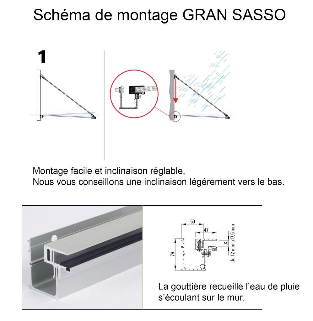 Kit marquise GRAN SASSO - sans verre