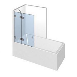 Kit porte de baignoire sur paroi fixe