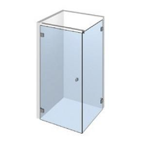Kit porte de douche d\'angle