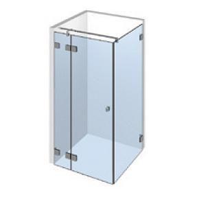 Kit porte de douche d\'angle sur paroi fixe gauche