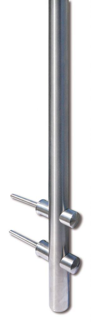 Kit poteau de balustrade modèle 80 - H 1200 mm