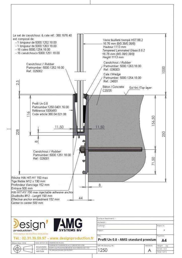 Kit profil de sol Un 0.8