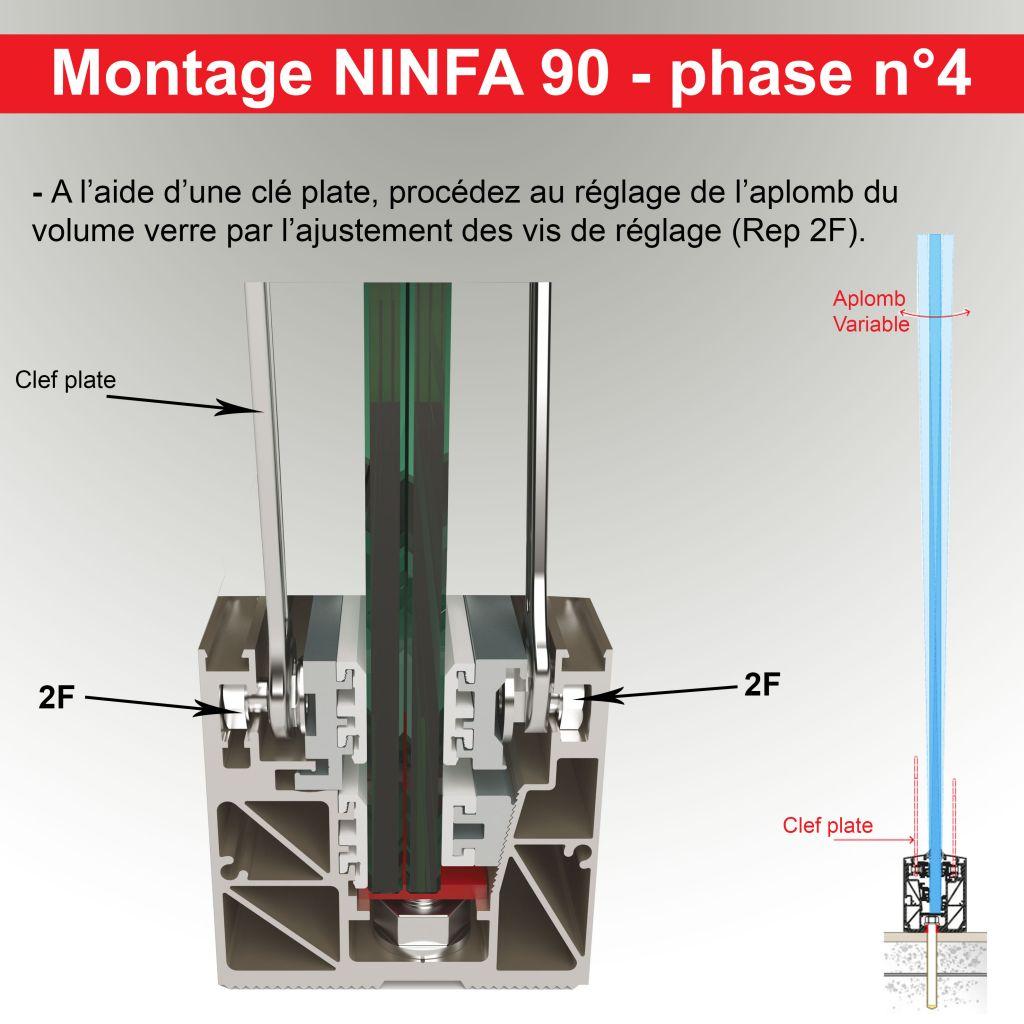 Kit Profil NINFA 90 - pose enterrée