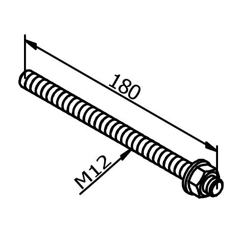LOT DE 10 VIS DE FIXATION POUR PROFIL TL30