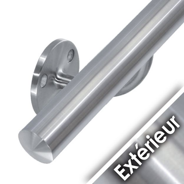 Main courante inox en kit ext rieur inox 316 for Main courante escalier exterieur
