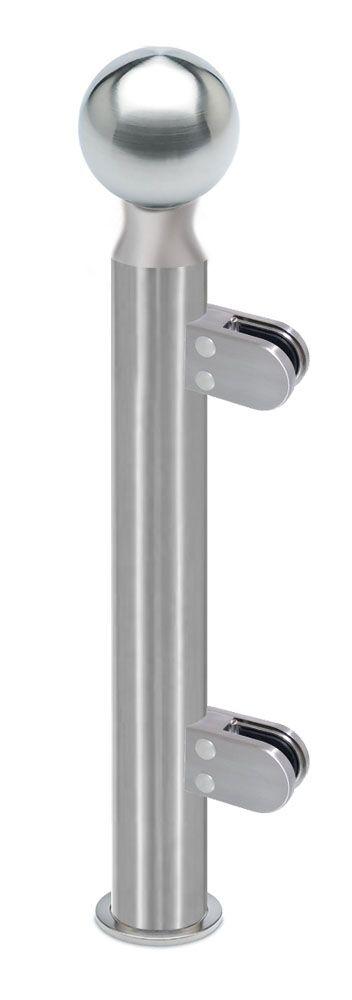 Modèle 902 - fixation invisible - Ø 38,1 mm - Aspect inox brossé