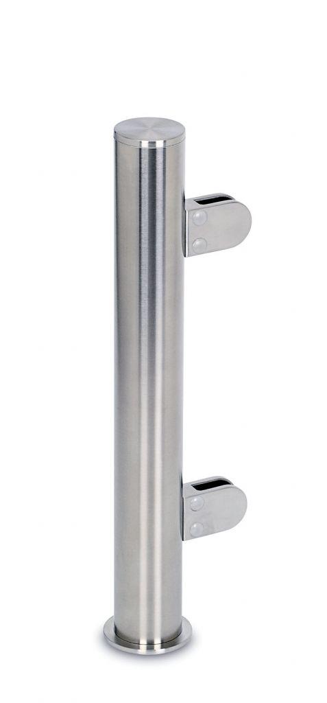 Modèle 903 - fixation invisible - Ø 38,1 mm - Aspect inox brossé