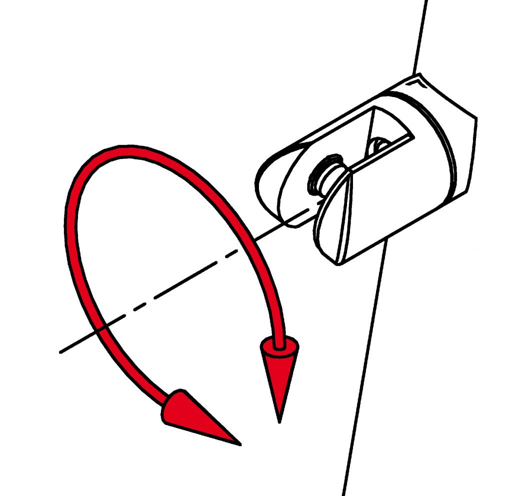 Modèle 906 - fixation invisible - Ø 38,1 mm - Aspect inox brossé