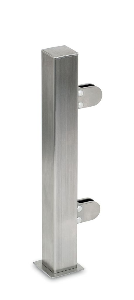 Modèle 907 - fixation invisible - Aspect inox brossé