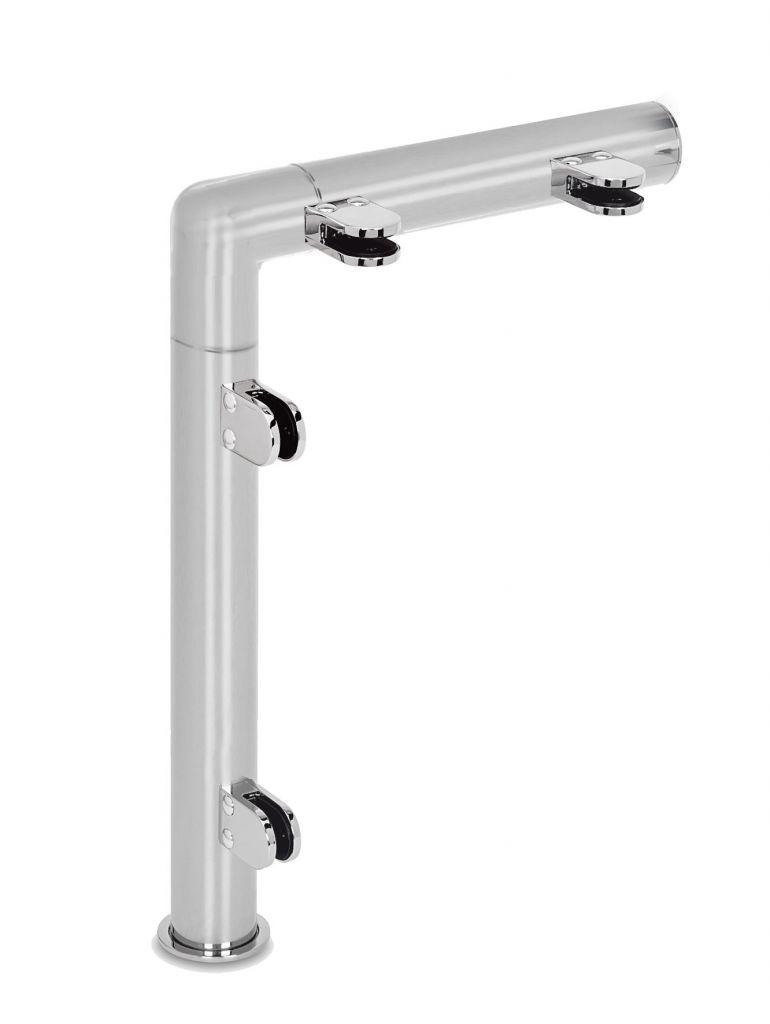 Modèle 908 - fixation invisible - Ø 25,4 mm - Aspect inox brossé