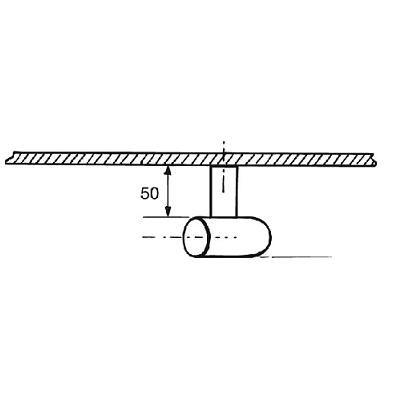 Paire de bâton maréchal cintrée aluminium