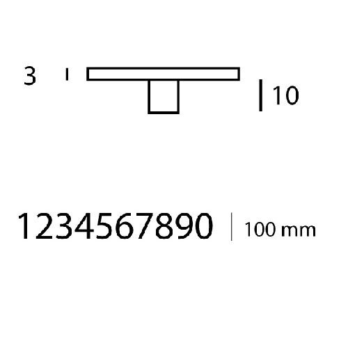 Pictogramme chiffre sur entretoise - Hauteur 100 mm
