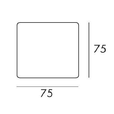 Pictogramme symbole 75 x 75 mm adhésif