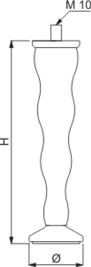 Pied de meuble triple cône