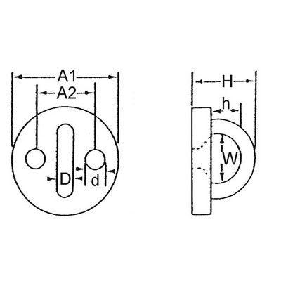 Platine ronde avec anneau