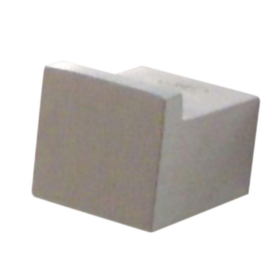 Poignée bouton carré fixe inox