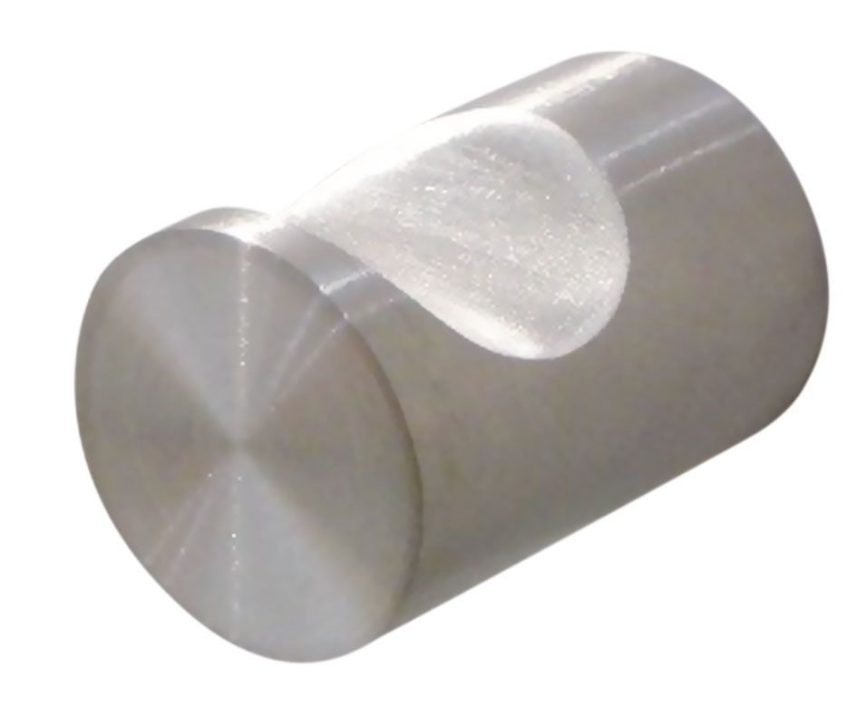 Poignée bouton ronde inox simple ergot