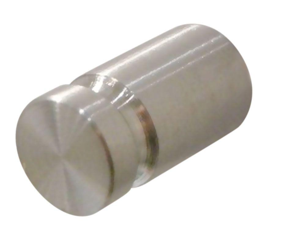 Poignée bouton ronde inox simple strie