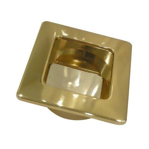 Poignée cuvette carrée pour porte bois