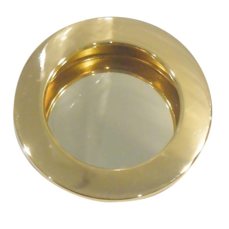 Poignée cuvette ronde pour porte bois