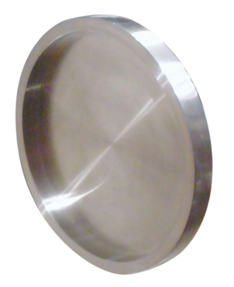 Poignée inox ronde à coller pour porte verre ou bois