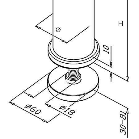Poteau de balustrade modèle 44 et 64 poli miroir