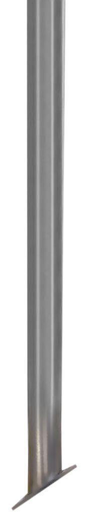 Poteau platine carrée inclinée