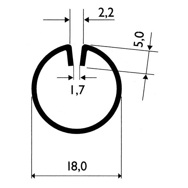 Profil d\'encadrement Ø18