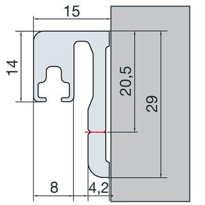Profil de butée de porte