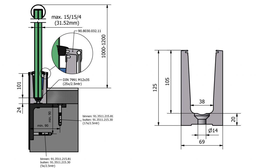 PROFIL DE SOL TL-6030 - 3.0 kN
