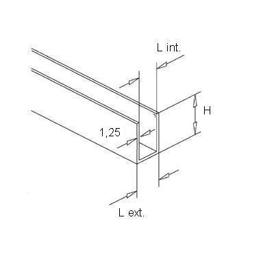 Profil U - 10 / 10,7 / 10 mm