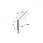 Raccord 45° angle vif pour tube Ø30 mm