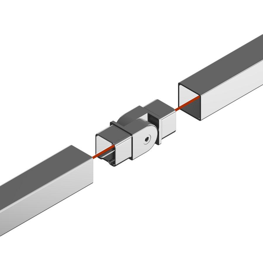 Raccord orientable carré