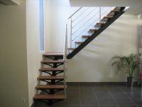 Rambarde d'escalier � c�ble