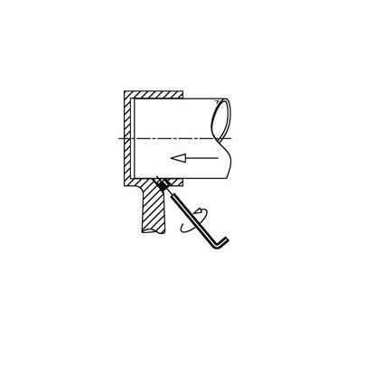 Support borgne - aspect laiton poli