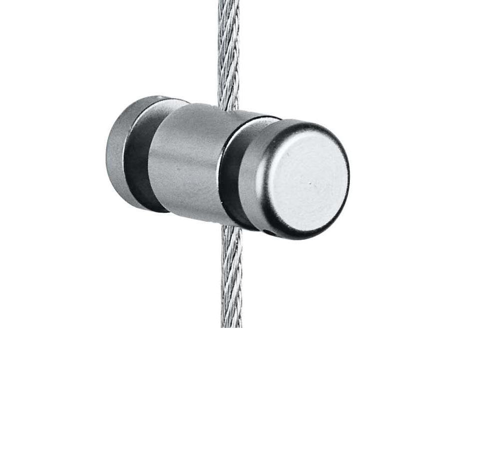 Support double pour panneaux perforés sur câble Ø1,5 mm