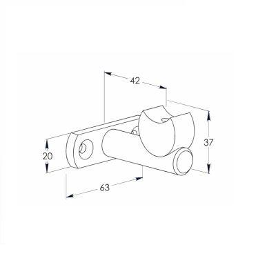 Support sur platine barre d\'accroche Ø30 mm