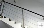 Garde corps escalier remplissage câble