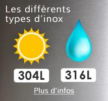 Inox 304 ou inox 316 ?