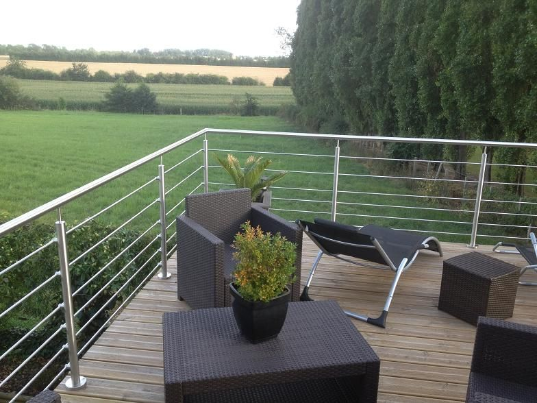 Charmant Garde Corps Inox Sur Terrasse